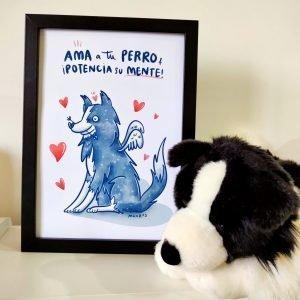 "Lámina ""Ama a tu perro"""