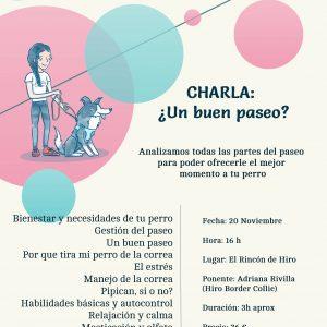 Charla: Los paseos (Presencial Barcelona)